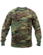 Футболка с рукавом Rothco Long Sleeve Camo T-Shirt Woodland