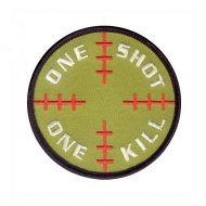 "Нашивка Rothco ""One Shot One Kill"" Patch - Olive"