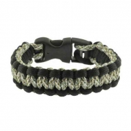 Браслет выживания Rothco Paracord - ACU Digital / Black