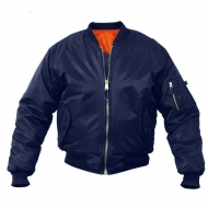 Куртка бомбер Rothco MA-1 Flight Jacket - Navy Blue