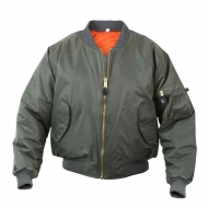 Куртка бомбер Rothco MA-1 Flight Jacket - Sage Green