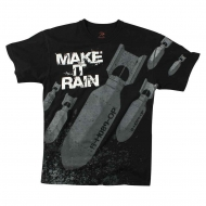 "Футболка Rothco Vintage ""Make It Rain Bombs"" Black"