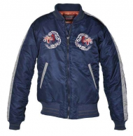 Куртка Schott Mens Nylon Tour Jacket - Navy