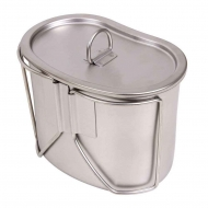 Набор котелок с крышкой Rothco Stainless Steel Canteen Cup and Cover Set
