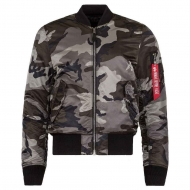 Куртка летная Alpha Industries MA-1 Slim Fit Tonal Black Camo