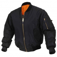 Куртка бомбер Rothco Enhanced Nylon MA-1 Flight Jacket Black