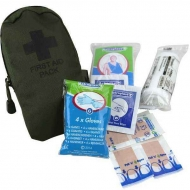 Аптечка с наполнением Kombat UK Small First Aid Kit - Olive Green