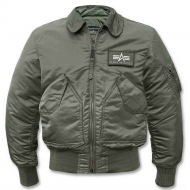 Куртка летная Alpha Industries CWU - 45 Sage Green