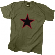 "Футболка Rothco ""Red Star"" Olive"