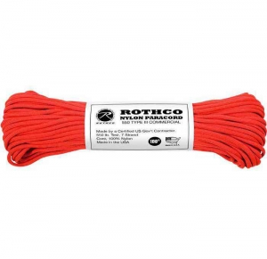 Корд Rothco Nylon Paracord Type III 550lb Red