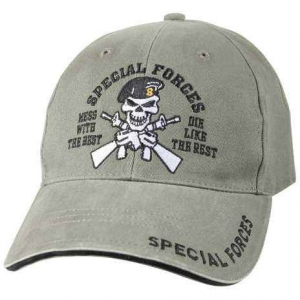 "Бейсболка Rothco Deluxe Vintage ""Special Forces"" Profile Cap Olive"