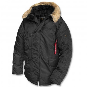 Куртка аляска Alpha Industries N-3B Parka Black зимняя