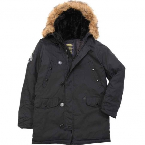 Куртка зимняя Alpha Industries Altitude Parka Black