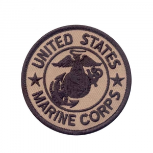"Нашивка Rothco ""Marine Corps"" Patch - Coyote Brown"