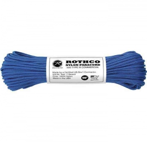 Корд Rothco Nylon Paracord Type III 550lb Royal Blue